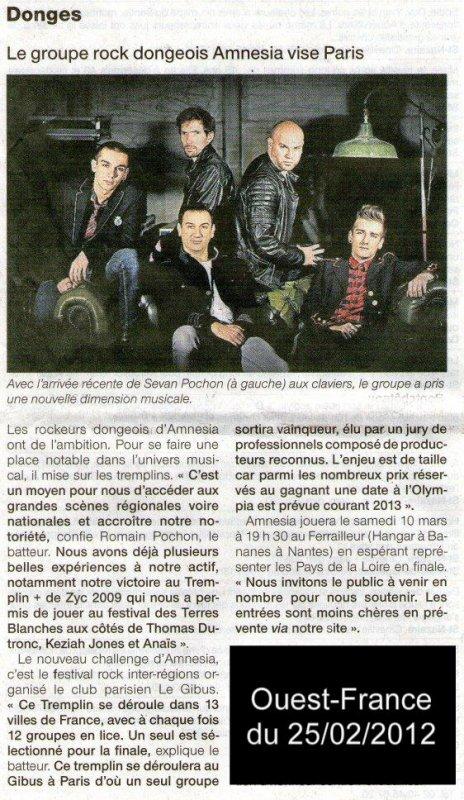 Ouest-France du 25/02/2012