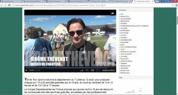 Jérôme Thévenot en interview sur Auxerre TV ce 12 Août 2016