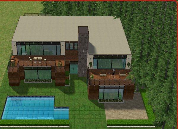 Articles de maisondecosims tagg s maisons bois sims for Sims 4 maison moderne