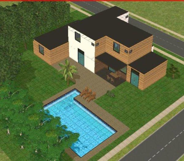 Articles de maisondecosims tagg s maison sims 2 for Sims 4 maison moderne