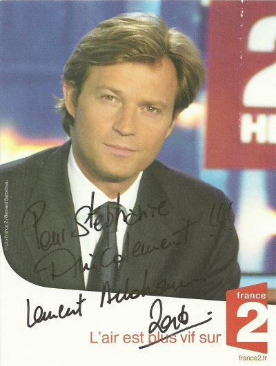 Laurent delahousse blog de mes autographes - Presentateur journal du hard ...