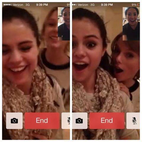 Demi Aposter une Photo d'elle et de Selena Gomez Avec Taylor Swift qui se parle Via une Webcame <3