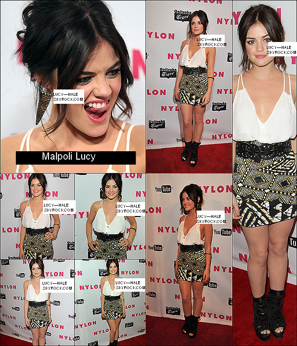 "Lucy au lancement de l'issue "" Young Hollywood "" du magazine "" Nylon """