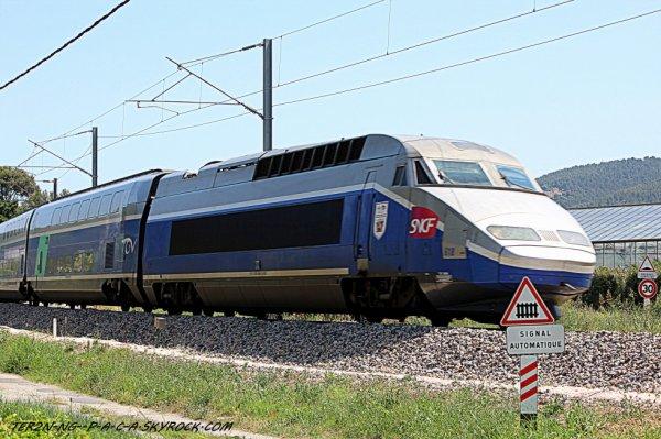 TGV a destination de paris gare de lyon avec 15 min de retard