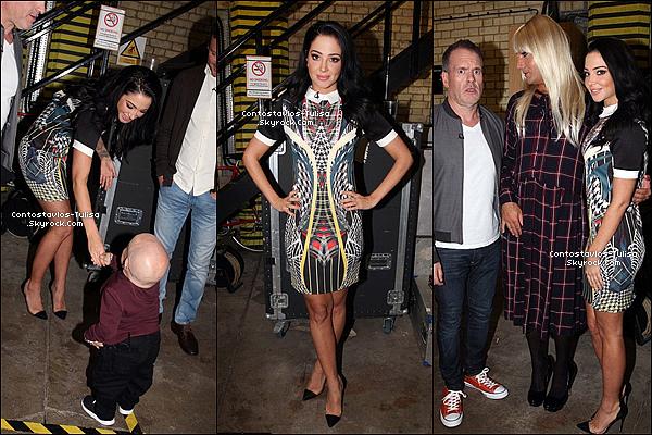 23.09.15  - Tulisa lors du tournage de l'�mission  � Celebrity Juice �  �  Londres.