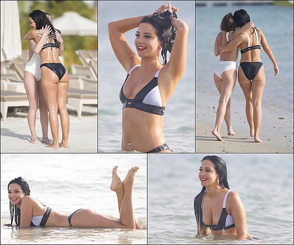 19.03.16  - Tulisa avec sa meilleure amie Michelle, prenant du bon temps � la plage � Duba�.