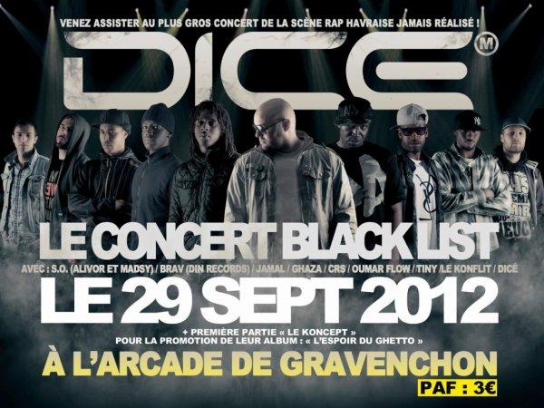 Le KONCEPT en 1�re partie du concert Black List