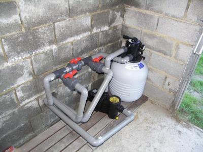 Installation pompe et filtre bypass construction for Pompe filtre piscine