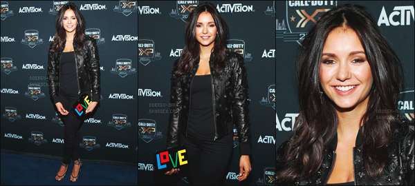03/09/16 : Nina Dobrev �tait pr�sente � � The Ultimate Fan Experience, Call Of Duty XP 2016 � � Inglewood. Nina �tait belle hier soir - Je suis tellement contente de la revoir � un �v�nement - C'est un top ou un flop pour la tenue de Nina ? Laisse ton avis !!