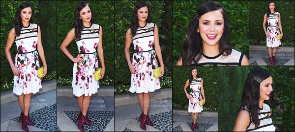 25/09/2016: La jolie Nina Dobrev �tait pr�sente au � Rape Foundation's Annual Brunch  � � Beverly Hills (CA) La robe que Nina portait �tait vraiment tr�s jolie, mais cependant je n'aime pas vraiment la coiffure avec les pinces du cot� puis les chaussures aussi.