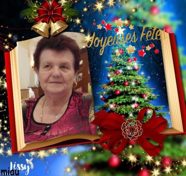 Tout grand merci à mon amie Pierrette pour ce beau montage pour la  Noël, gros bisous,,,,,,j'adore