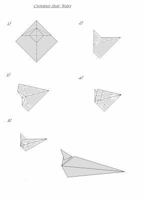 Origami Star Wars Vaisseau