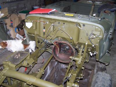 chassis emplacement moteur restauration de ma jeep willys hotchkiss m201. Black Bedroom Furniture Sets. Home Design Ideas