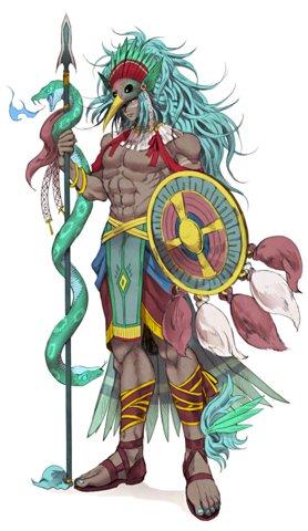 Huitzilopochtli, la principale divinité des Aztèques
