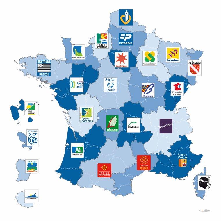 LES REGIONS DE FRANCE