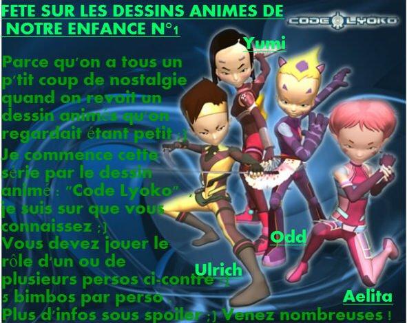 F�te sur les dessins animes de notre enfance n�1