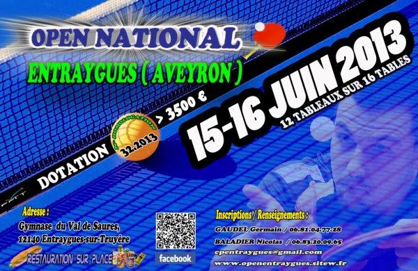 Open National d'Entraygues les 15 et 16 juin 2013