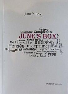 June's Box, D�borah Galopin