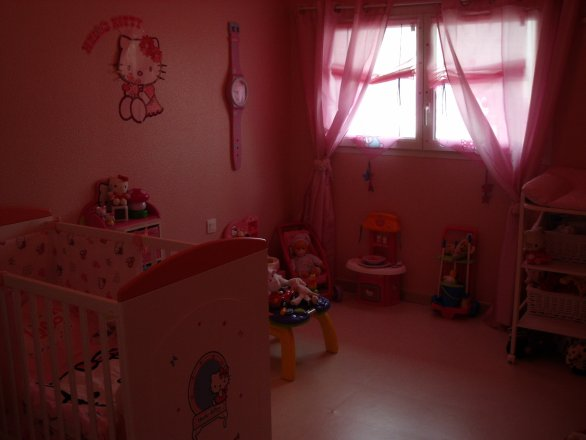 chambre de bb fille hello kitty chambre o kitty de ma princesse loane - Hello Kitty Chambre Bebe