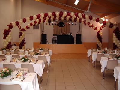 Mariage avec deco ballons mach 3 system - Decoration mariage avec ballon ...