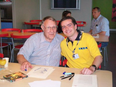 rencontre avec ingvar kamprad fondateur d 39 ikea samedi 9. Black Bedroom Furniture Sets. Home Design Ideas