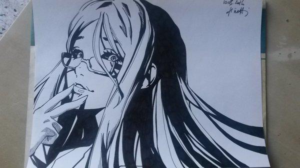 Dessin de ma derni�re vid�o (Rize Kamishiro from Tokyo Ghoul)