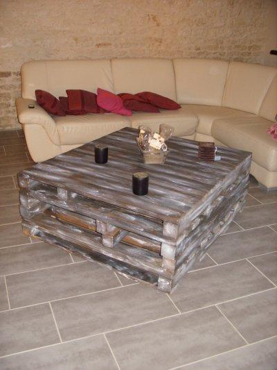 Table basse r novation de notre maison for Table basse avec palette en bois