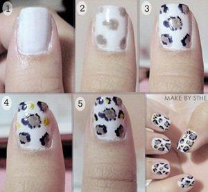 nail art leopard tuto