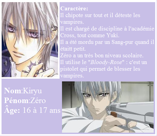 Vampire Knight - Zéro Kiryu