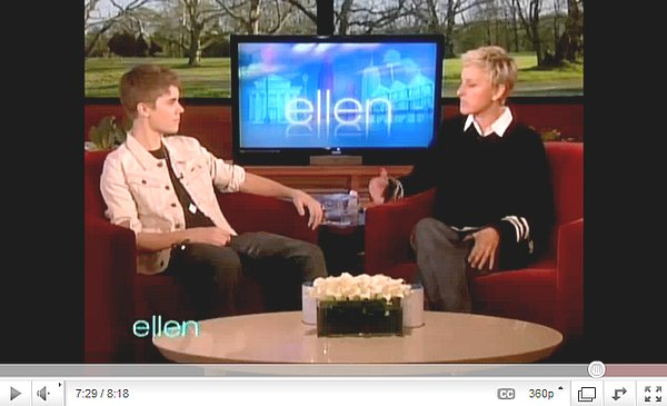 .    Interview pour The Talk & Ellen DeGeneres.  .