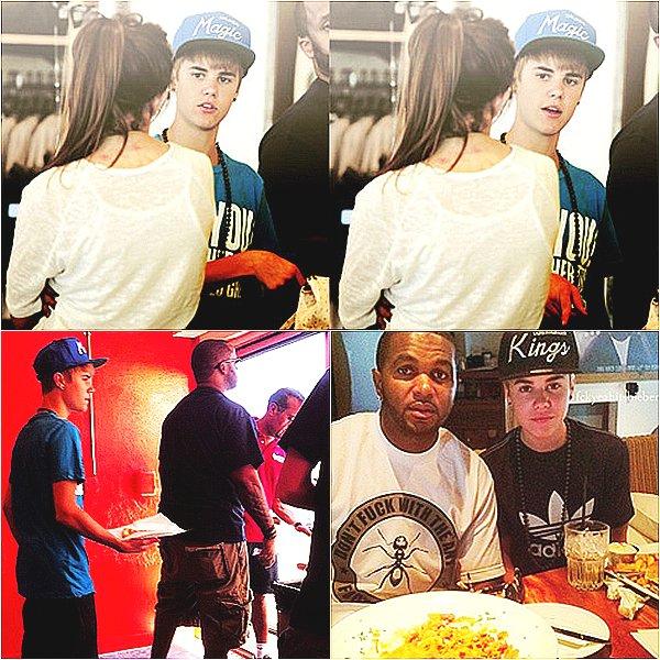 .  03.07 - Justin passe la journée à Los Angeles avec son meilleur ami. .