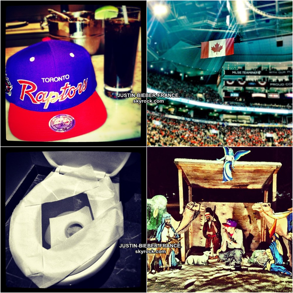 .  28.12. Justin et Ryan Butler au Raptors Game. .