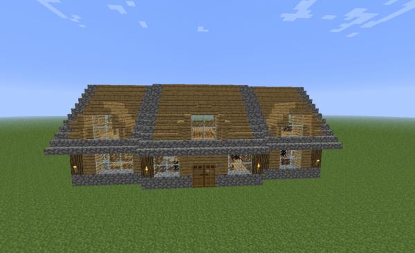 Petite maison en bois Blog de Construction Minecraft # Petite Construction En Bois