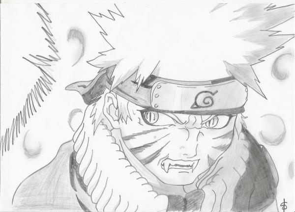 Naruto en kyubi mes dessins mangas - Dessin naruto et sasuke ...