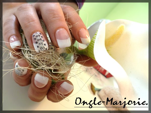 Ongles en gel Stickers frise black