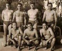 A.S.F. DE  TUNIS - WATER-POLO- 1949