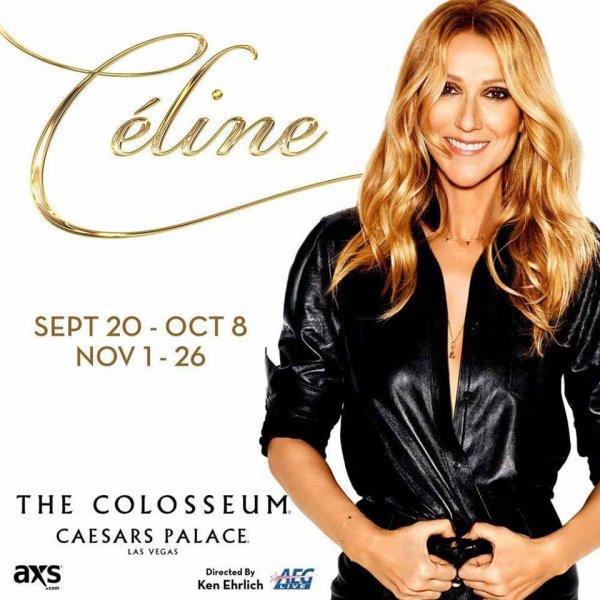 C�line Dion est de retour sur sc�ne au The Colosseum ce soir au  Caesars Palace ;)