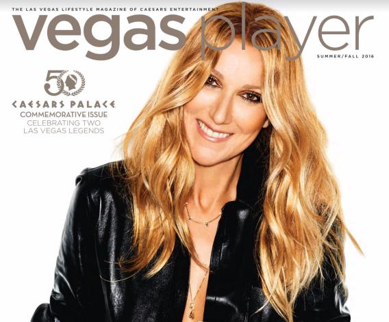 C�line est � la une du Vegas Player magazine. Cette ann�e le Caesars Palace f�te ses 50 ans.