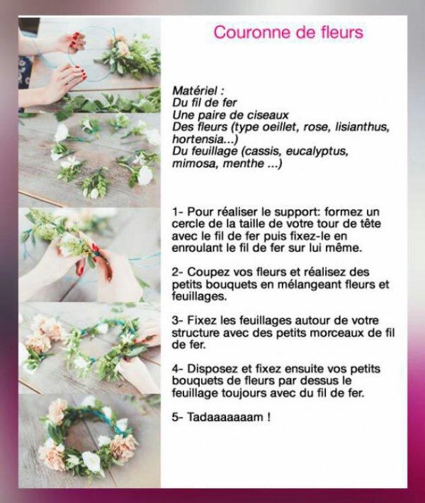 Tuto faire une couronne de fleur blog de sanasugar - Tuto couronne de fleur ...