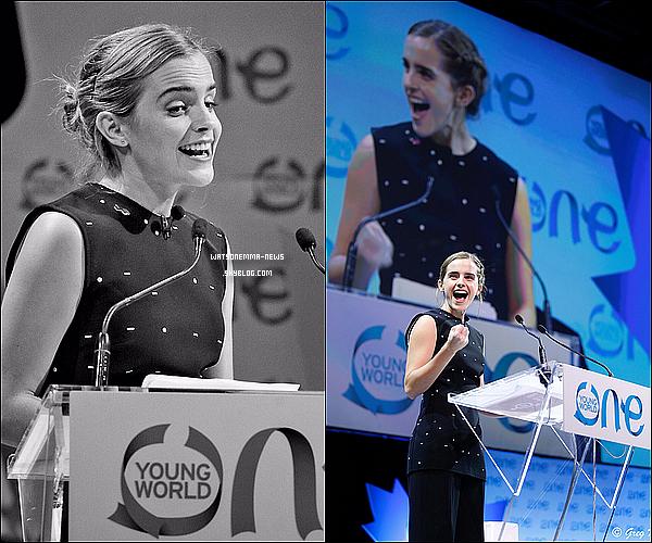 . 29/09 : Emma �tait � une session pour une discussion sur l' �galit� des sexes au One Young World ! Que d'�v�nements avec Emma en ce moment, c'est impressionnant ! Je suis heureuse pour elle, elle semble vraiment �tre dans son �l�ment !  .