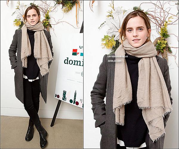 . 1er décembre : Emma a visité le magazine spécialisé Domino de Noël à New York City !  + Elle a aussi été vue faisant du shopping dans les rues de la grande ville ! Elle est toute mignonne, comme toujours !  .