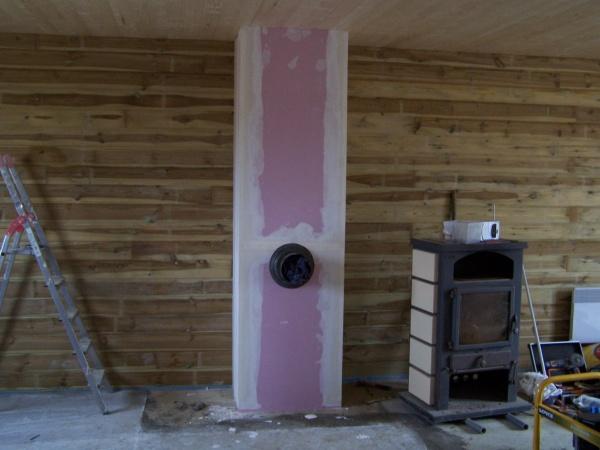 conduit pour mon poele termine isole a l interieur et placo special feu blog de josoloula. Black Bedroom Furniture Sets. Home Design Ideas