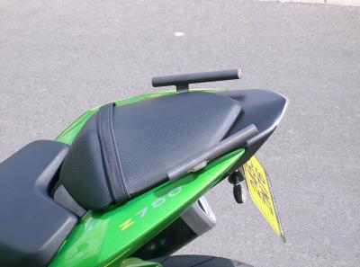 poign es passager pour z 750 et z1000 2007 2008 poign es passager moto. Black Bedroom Furniture Sets. Home Design Ideas