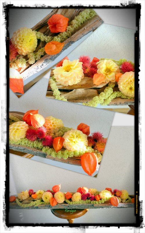 Centre de table d 39 automne compositions florales for Centre de table automne