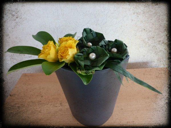 trois petites roses pour vous souhaiter un bon week-end