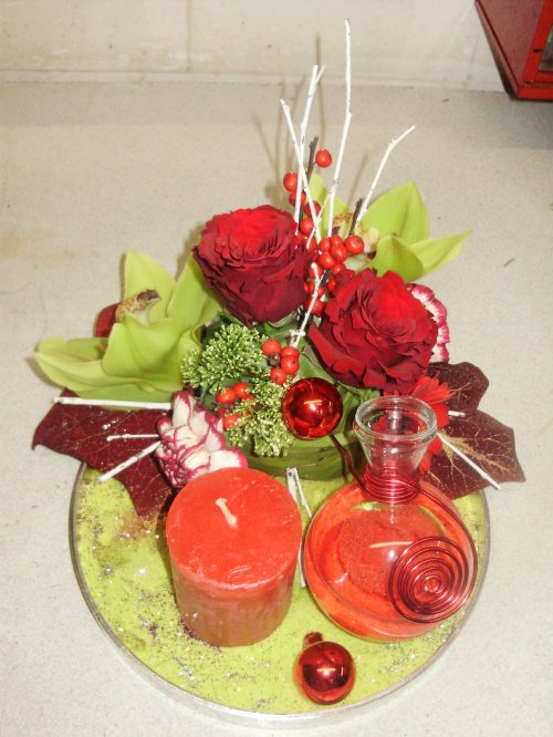 composition florale et d corative r alis e en stage a. Black Bedroom Furniture Sets. Home Design Ideas