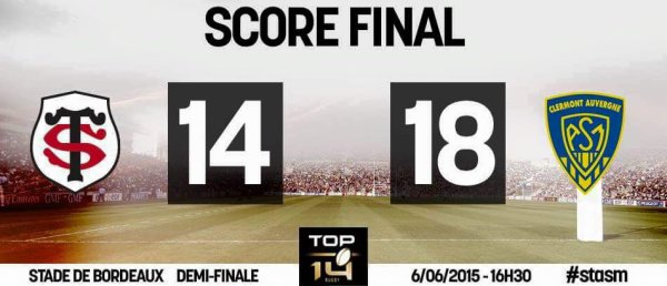 TOP 14 - Le Stade Toulousain s'incline face � l'ASM