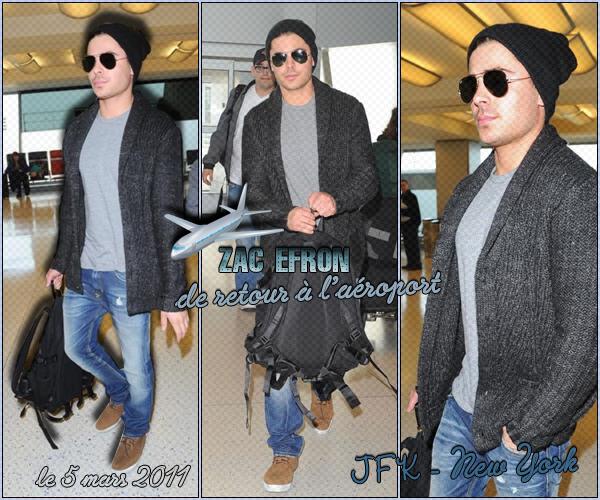 → Zac EFRON // Candids . • ˙ • . • ˙ • . • ˙ • . • ˙ • . • ˙ • . • ˙ • . • ˙ • . • ˙ • . •˙ • .  DAILY-ZEFRON ★.•°•.•Zac say Good Bye to New York•.•°•.★  « aéroport JFK » - . • ˙ • . • ˙ • . • ˙ • . • ˙ • . • ˙ • . • ˙ • . • ˙ • . • ˙ • . •˙ • .  « 05.03.2011 »