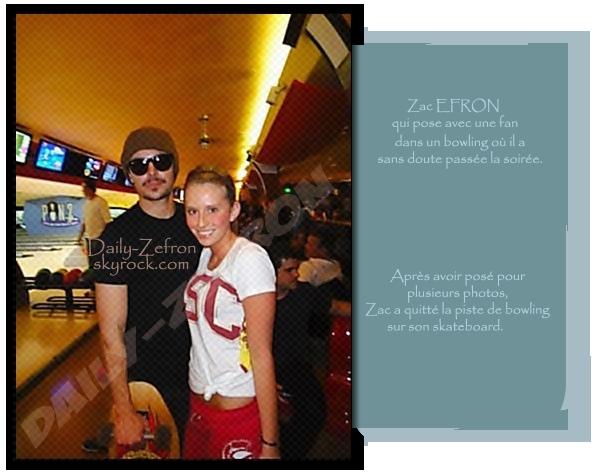 → Zac EFRON // PicsFans . • ˙ • . • ˙ • . • ˙ • . • ˙ • . • ˙ • . • ˙ • . • ˙ • . • ˙ • . •˙ • .  DAILY-ZEFRON ★.•°•.•Zac au Bowling•.•°•.★  « Pause Photos entre deux quilles » - . • ˙ • . • ˙ • . • ˙ • . • ˙ • . • ˙ • . • ˙ • . • ˙ • . • ˙ • . •˙ • .  « 29.03.2011 »