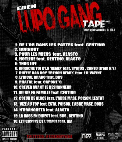 """LUPO GANG TAPE"" MIXE BY DJ SMOCKER ET DJ DEE-F EN FREE DOWNLOAD"
